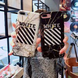 オフホワイト アイフォンテンケース 夜光 iphone7/8ケース ペア OFF WHITE iphone6s PLUSケース ストラ ...