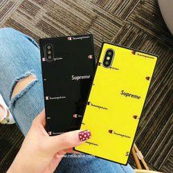 チャンピオン Supreme コラボ iPhoneXケース おしゃれ Champion iPhone8 iPhone8plusケース シンプル  ...