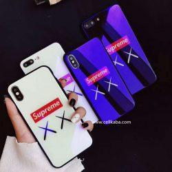 シュプリーム iPhoneXケース 背面ガラス 光沢 SUPREME アイフォンテン/8/8plusカバー カップルケース  ...