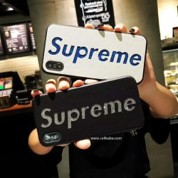 Supreme iPhoneXカバー キラキラ iphone7plusケース シュプリーム iphone8カバー 脱着簡単 ブランド ア ...