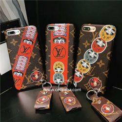 LV iPhoneX iphone7 plus ジャケット型 ケース ルイヴィトン アイフォン8 プラス レザーカバー ブラン ...