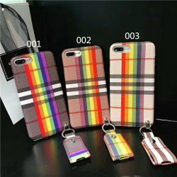 バーバリー iphone7 plus ケース ビジネス風 アイフォン6s PLUS カバー ペンダント付き 落下防止 burbe ...