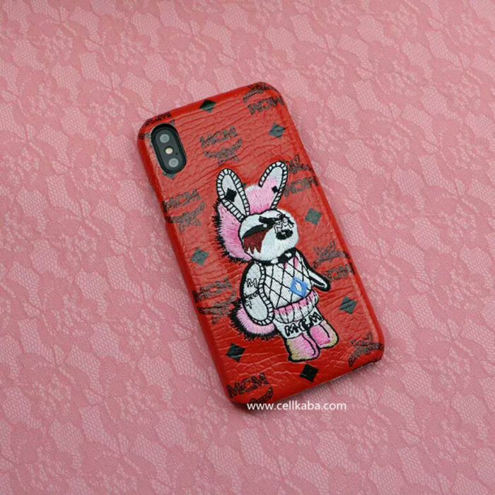 韓国 エムシーエム iphone 7/8 plus ケース うさぎ アイフォン 6/6s プラス ジャケット アップリケ お ...