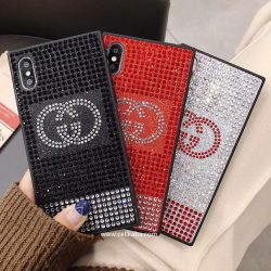 グッチ アイフォンx デコケース キラキラ iPhone8/7 ケース GUCCI セレブ愛用 アイフォーン7 プラスケ ...