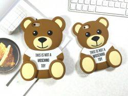 アイフォンXSプラスケース ブランド モスキーノ テディベア 熊 クマ iPhoneX Plusケース MOSCHINO ipho ...