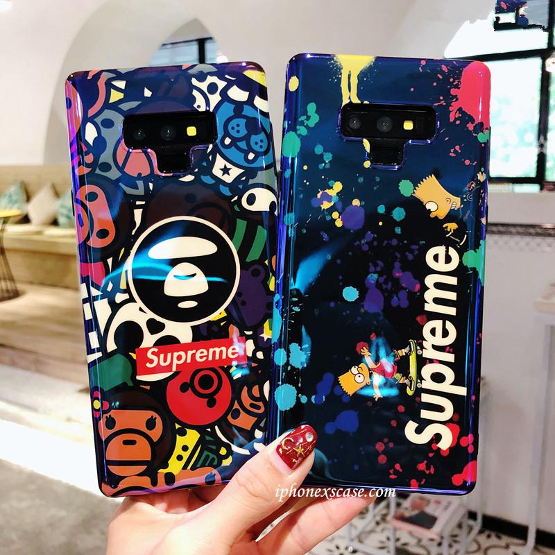ブラント ステューシー ギャラクシーノート9ケース ブルーレイ galaxy note8ケース ソフトカバー iPhon ...