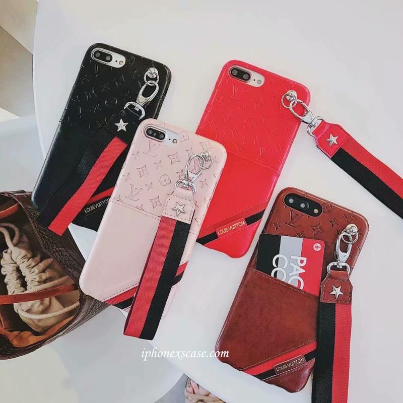 ブランド ルイヴィトン iphoneXS plusケース カードポケット付き アイフォン8/7プラスカバー モノグラ ...