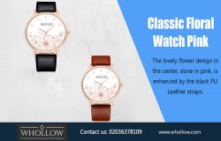 Classic Floral Watch Pink|https://whollow.com