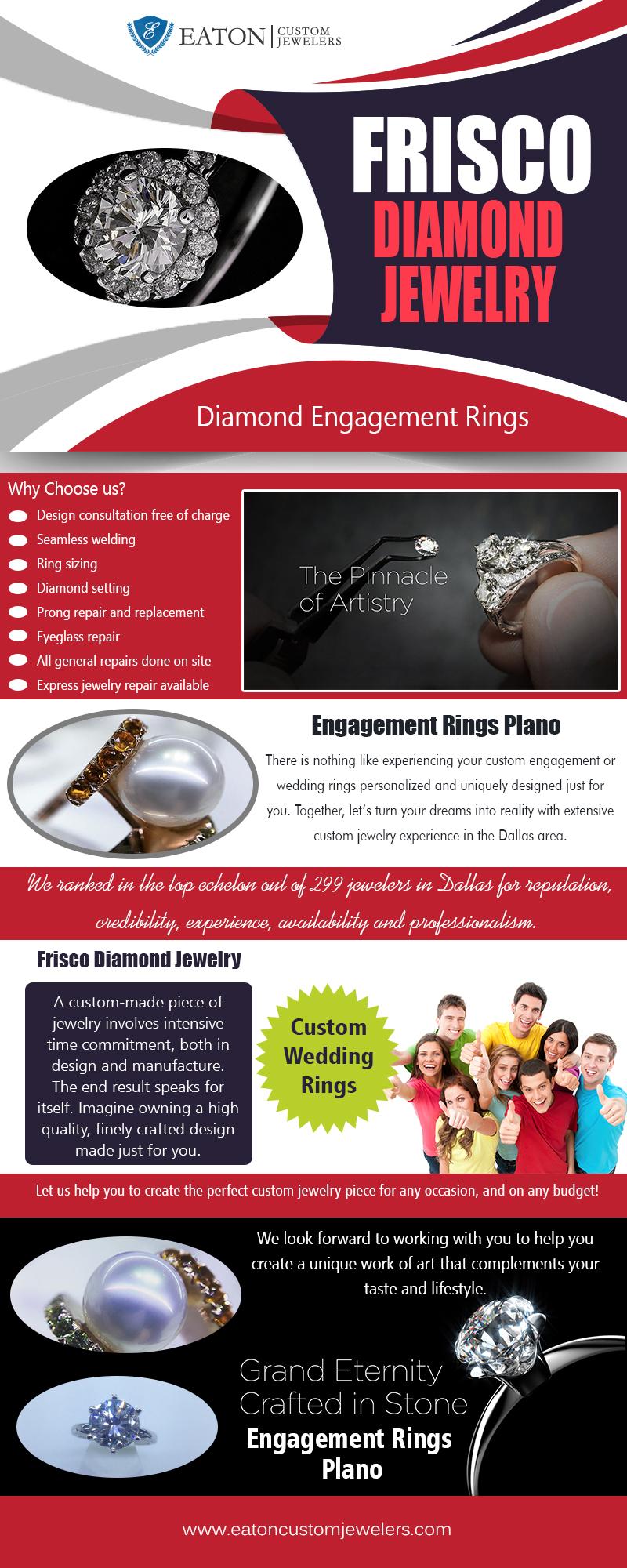 Frisco Diamond Jewelry | 972 335 6500 | eatoncustomjewelers.com
