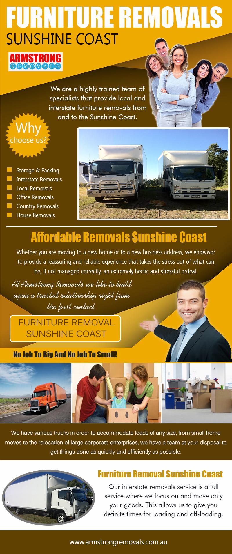 Furniture Removals Sunshine Coast https://armstrongremovals.com.au/