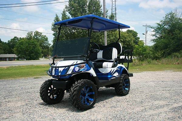 Fusion Blue White YAMAHA Golf Cart