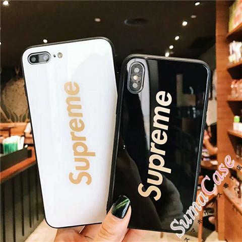 ブランド supreme iPhoneX plus ケース ジャケット シュプリーム 強化ガラス アイフォン8/7/6sプラス  ...