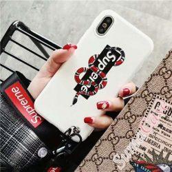 ブランド iphoneXplusケース ヘビ柄 アイホン8/7カバー シュプリーム iphone6s/6splusカバー ストラッ ...