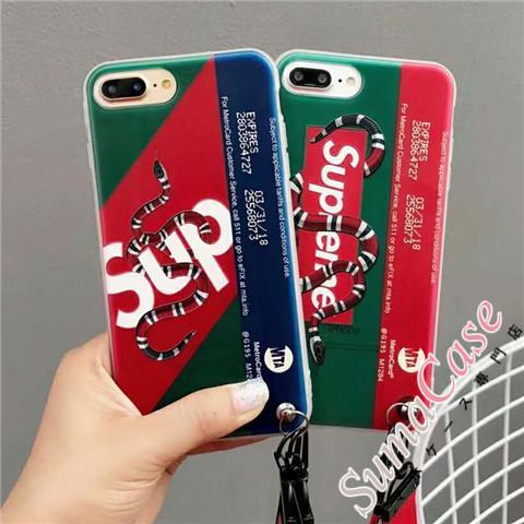 カップル・ペア ブラント supreme iphone8ケース シュプリーム iPhone7/7 plus ソフトカバー ジャケッ ...