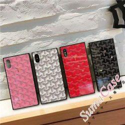 ゴヤール iPhone7/7 plus デコケース Goyard ブランド アイホーン8/7/6s 保護ケース 強化ガラス iphone ...