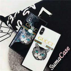 グッチ iPhoneXデコケース GUCCI アイフォンテンカバー 猫柄 iPhone8/8plus アイフォン7/7plusケース  ...