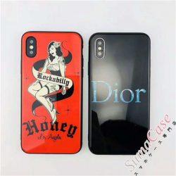 Dior iPhoneX/8 ディオール 強化ガラス iphone7 plus ハードケース ゴージャス風 アイフォン6sカバー  ...