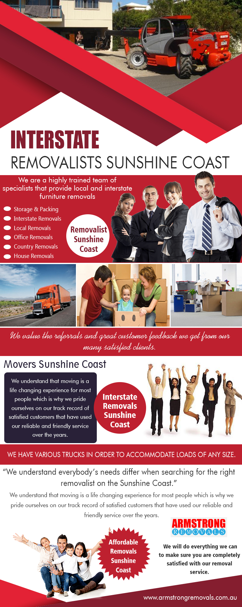 Interstate Removalists Sunshine Coast|https://armstrongremovals.com.au/