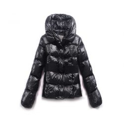 Moncler Down Coat Featured Women Slim Windproof Black moncleroutletonline.org