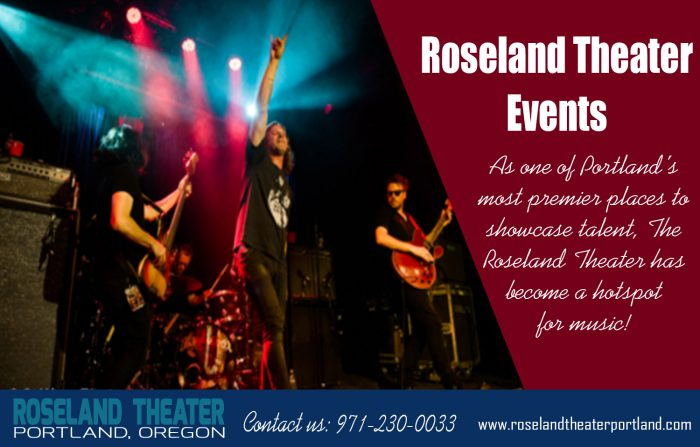 Roseland Theater Events