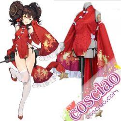 少女前線 97式 コスプレ衣装 牡丹魁 QBZ-97 スキン衣装 チャイナドレス ドルフロ