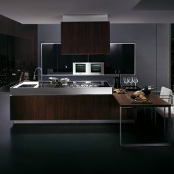 Stainless Steel Kitchen Cabinets Highlight Postmodern Style