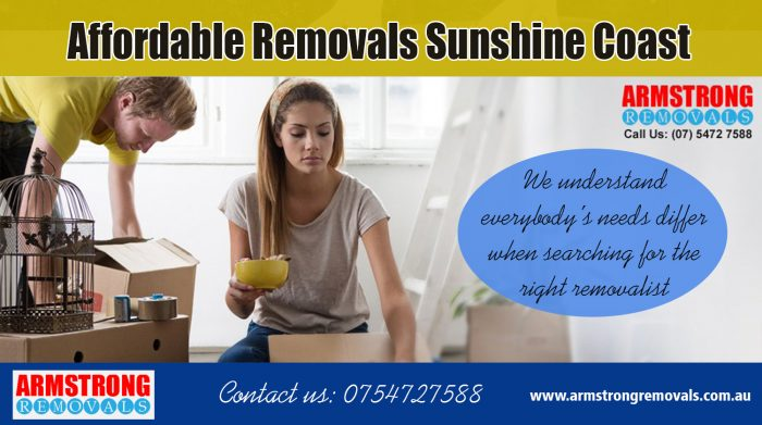 Affordable Removals Sunshine Coast | Call – 0754727588 | armstrongremovals.com.au