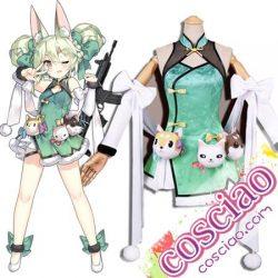 ドルフロ ART556 コスプレ衣装 スキン 蓮花白 少女前線 チャイナドレス