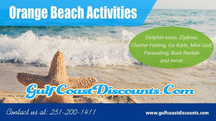 Orange Beach Activities | Call 251 200 1411 | gulfcoastdiscounts.com