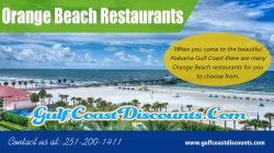 Orange Beach Restaurants | Call 251 200 1411 | gulfcoastdiscounts.com