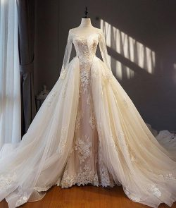 Designer A Linie Brautkleider Mit Ärmel Spitze Hochzeitskleider Günstig Online