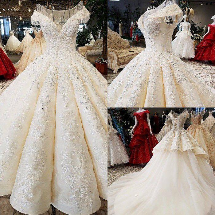 Designer Brautkleider Prinzessin Mit Spitze Hochzeitskleider Online Kaufen