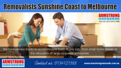 Removalists Sunshine Coast to Melbourne | Call – 0754727588 | armstrongremovals.com.au