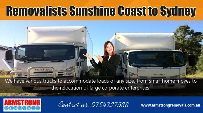 Removalists Sunshine Coast to Sydney   Call – 0754727588   armstrongremovals.com.au