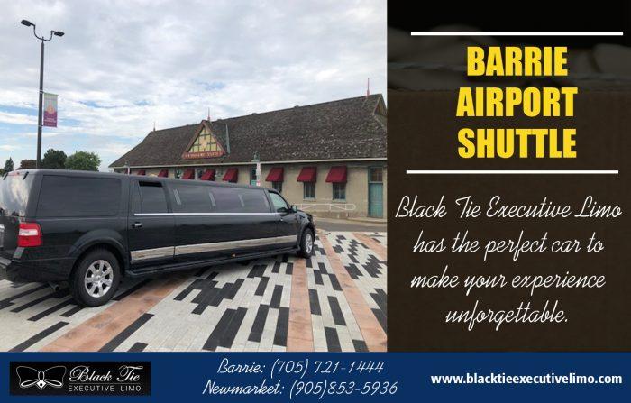 Barrie Airport Shuttle | Call – 705-721-1444 | blacktieexecutivelimo.com