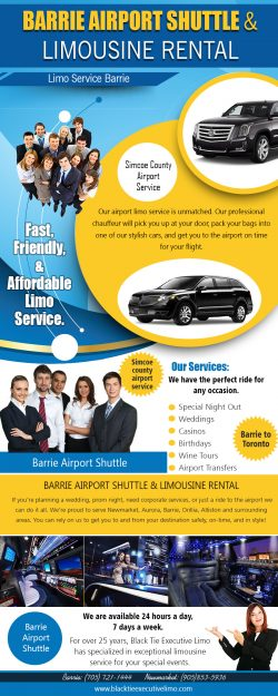 Barrie Limousine | Call – 705-721-1444 | blacktieexecutivelimo.com