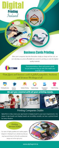 Digital Printing Ireland | Call – 01 426 4844 | alphaprint.ie