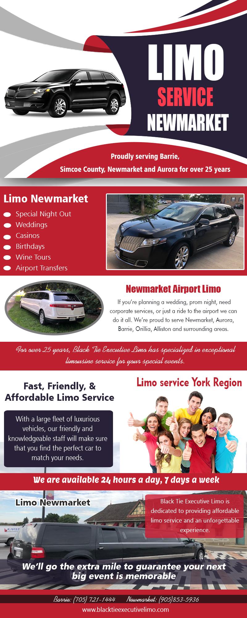Limo Newmarket | Call – 705-721-1444 | blacktieexecutivelimo.com