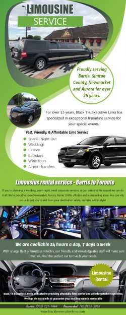 Limo Service | Call – 705-721-1444 | blacktieexecutivelimo.com