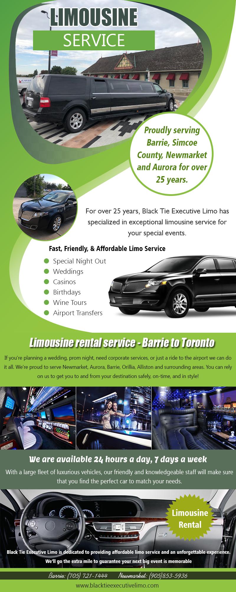 Limo Service   Call – 705-721-1444   blacktieexecutivelimo.com