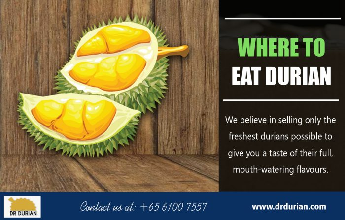 Where to Eat Durian
