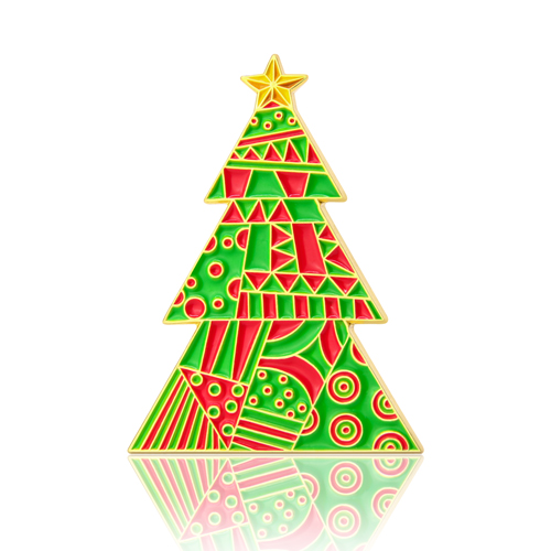 GS-JJ Christmas Tree Custom Enamel Pins