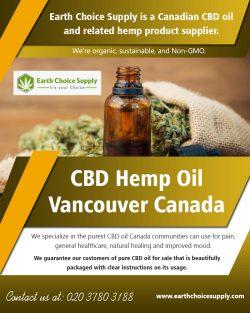 CBD Hemp Oil Vancouver Canada | earthchoicesupply.com