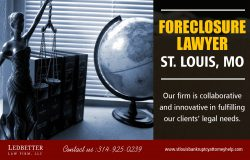 Foreclosure Lawyer St Louis, MO | 3149250239 | louisbankruptcyattorneyhelp.com