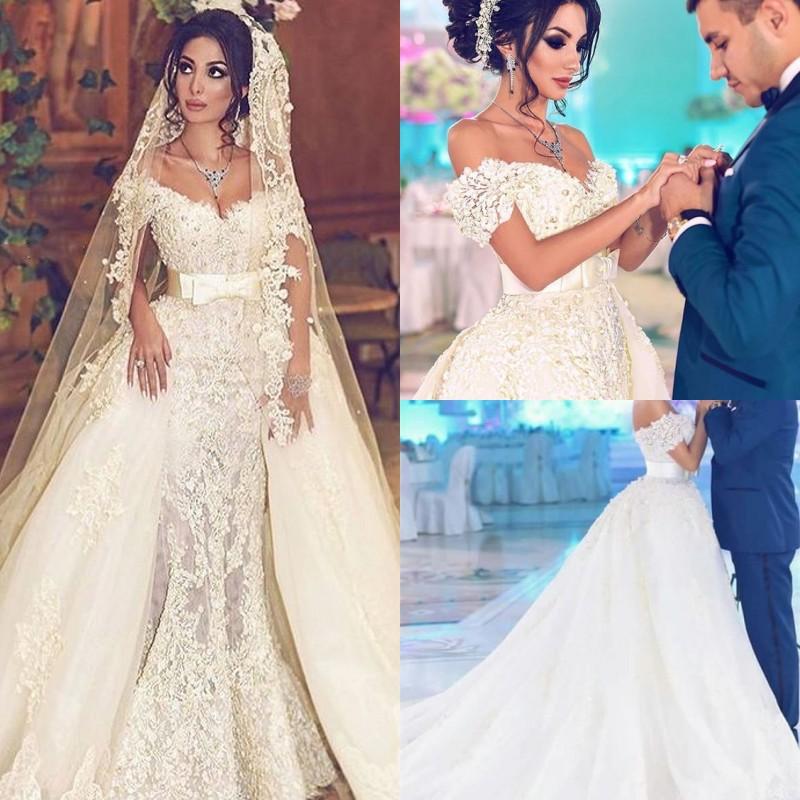 Designer Hochzeitskleider Weiß Spitze A Linie Brautkleider Günstig Kaufen