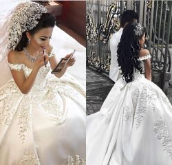 Fashion Weiße Brautkleider Prinzessin Bodenlang Hochzeitskleider Mit Spitze