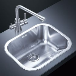 Stainless Steel Kitchen Sink Cleaned Immediately After Use