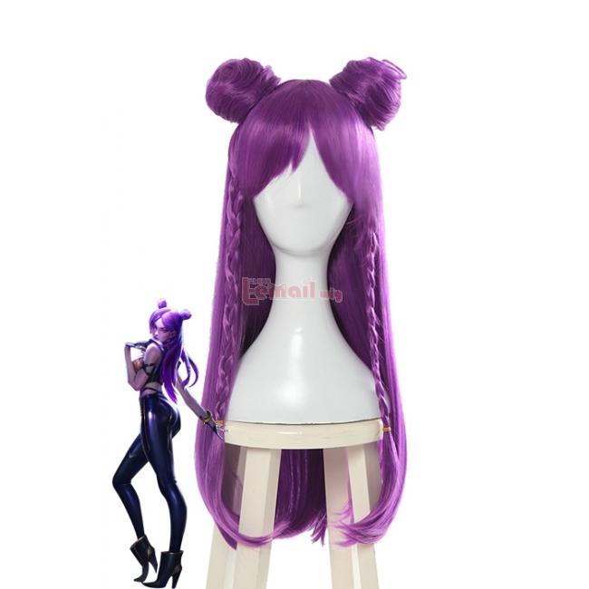 LOL KDA Skin Kaisa Long Straight Purple Cosplay Wigs