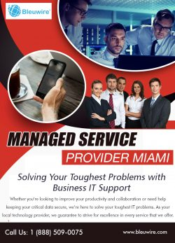 Managed Service Provider Miami | Call: 1-888-509-0075 | bleuwire.com