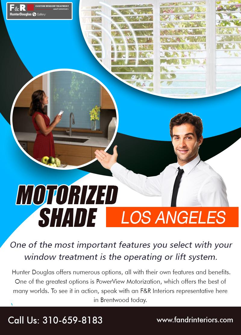 Motorized shade Los Angeles